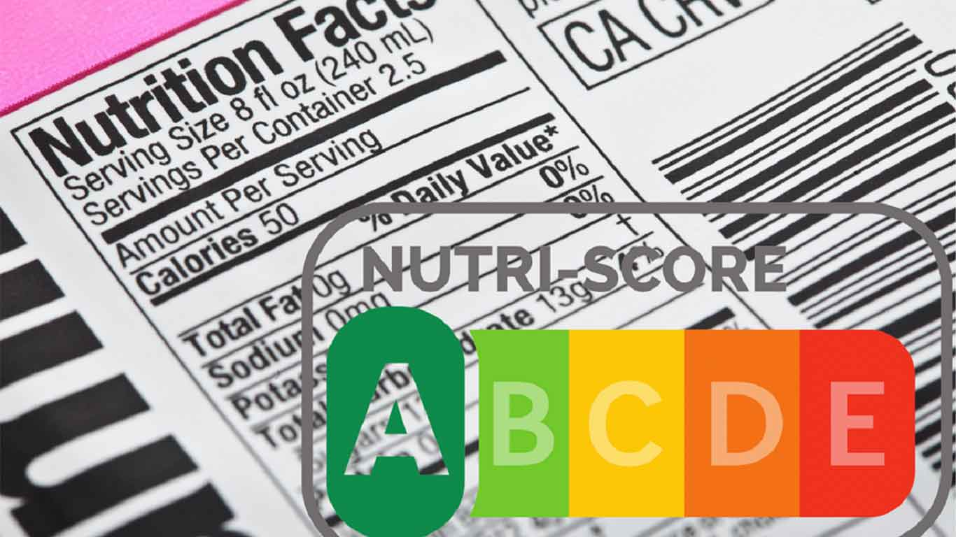 Illustration eines Nutri-Score Labels